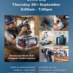 Bosch Tradeshow Demo Day at Kelvin Power Tools