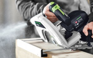 Festool HK85 circular saw in action