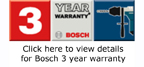 Bosch 3 Year Warranty Statement