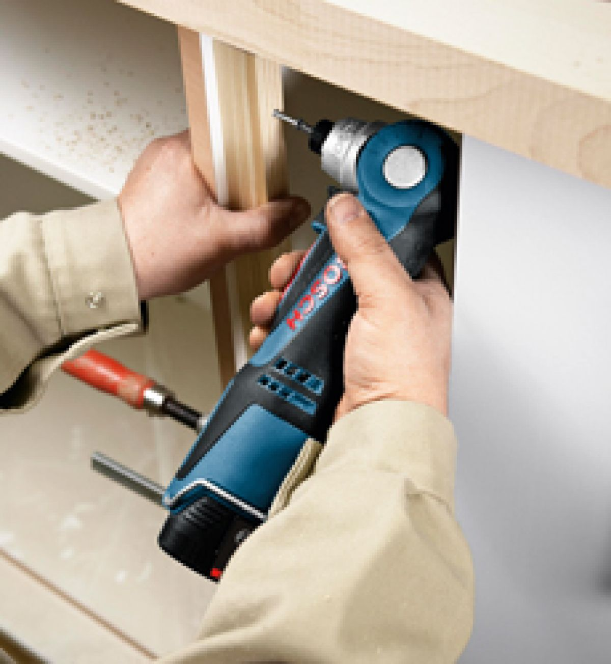 Bosch Cordless Right Angle Drill application