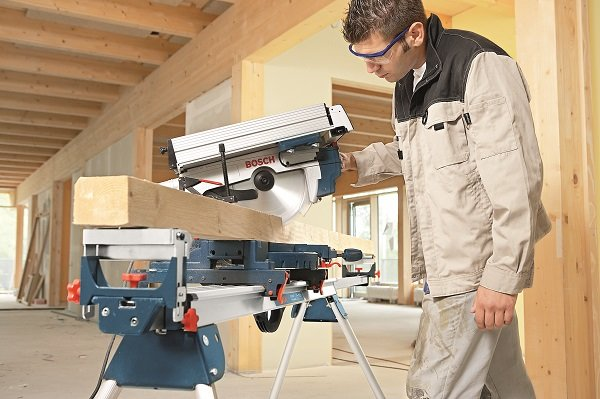 Bosch Table Mitre Saw in action