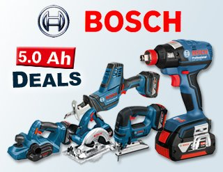 Bosch Power Tools 18v 5.0Ah Deals
