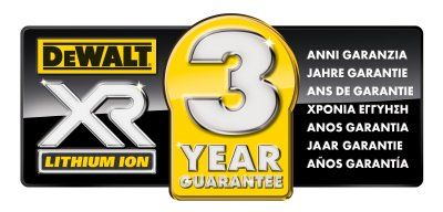 DeWalt 3 Year Warranty