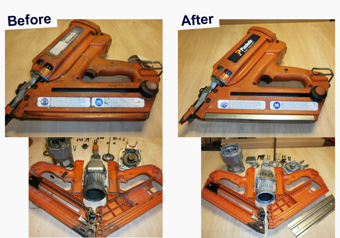 Before and After using our Approved Paslode Service Centre
