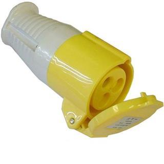 110v 16amp 3 Pin Coupler (Yellow)