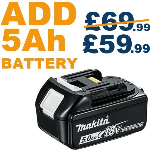 ADD 5ah battery, Save £10