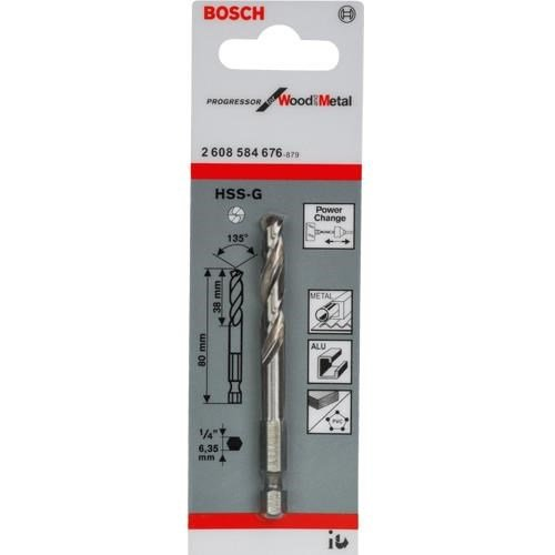 """Bosch 1/4"""" Hex HSS-G Pilot Drill (Progressor)"""