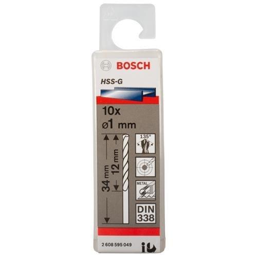 Bosch HSS-G 1mm dia Drill Bits (10 pack)