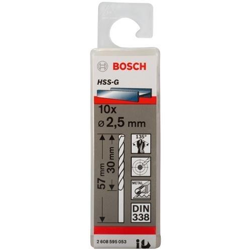 Bosch HSS-G 2.5mm dia Drill Bits (10 pack)
