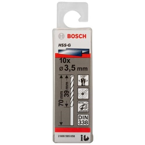 Bosch HSS-G 3.5mm dia Drill Bits (10 pack)