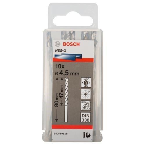 Bosch HSS-G 4.5mm dia Drill Bits (10 pack)