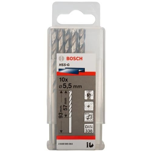 Bosch HSS-G 5.5mm dia Drill Bits (10 pack)