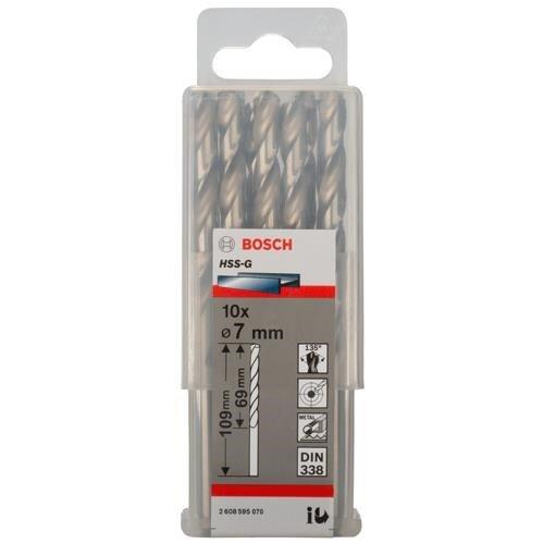 Bosch HSS-G 7mm dia Drill Bit (10pk)