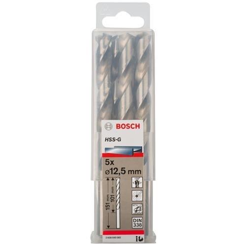 Bosch HSS-G 12.5mm dia Drill Bit (5pk)