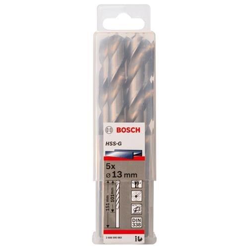 Bosch HSS-G 13mm dia Drill Bit (5pk)