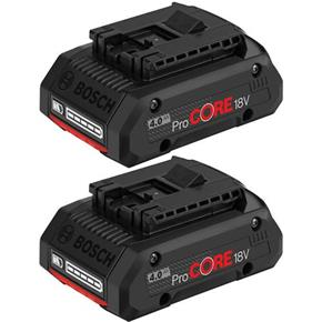 Bosch 18V 4Ah ProCore Battery (Compact, High-Performance) (2 PACK)
