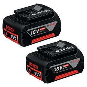 Bosch 18V 4Ah Lithium-ion Coolpack Battery (Twin Pack)