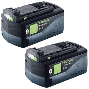 Festool 18V 5.2Ah Airstream Bluetooth Battery (Twin Pack)