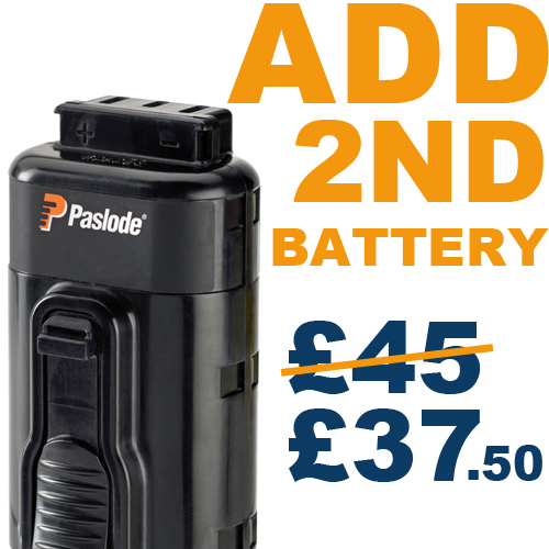 ADD 2nd Battery for £37.50