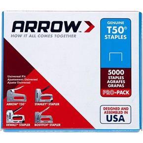 Arrow T50 8mm Staples (Box of 5000)