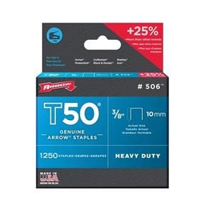 Arrow T50 Staples 10mm (1250pc)