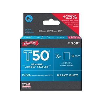 Arrow T50 Staples 12mm (1250pc)