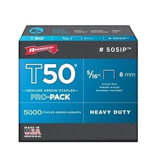 Arrow T50 Staples 8mm (1250pc)