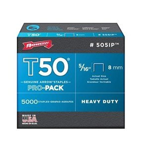 Arrow T50 Staples 8mm (1250pc)