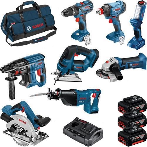 Bosch 8pc 18V Dynamic Series Tool Kit (3x 4Ah)
