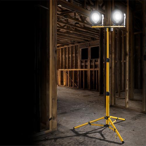 Defender DF1200 Twin-Head LED Floodlight 1200lm 110v