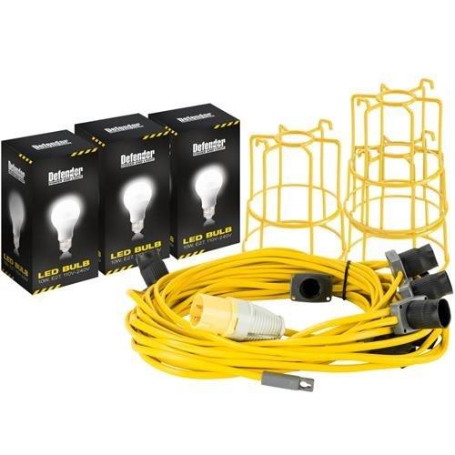 Defender 22m 100W LED Festoon Kit 110v