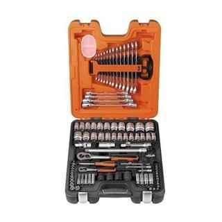 Bahco S87+7 1/4in + 1/2in Socket + Spanner Set