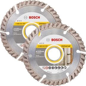 Bosch High-Speed Universal Diamond Cutting Disc 115mm x 22.23mm (2pk)