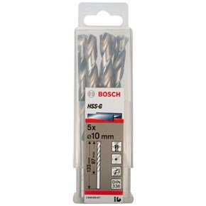 Bosch HSS-G 10mm dia Drill Bit (5pk)