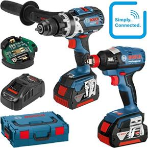 Bosch 18V Robust Connected Set: GSB18V-85C + GDX18VEC (2x 6Ah)