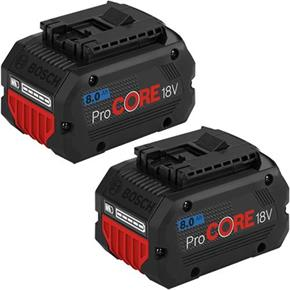Bosch 18V 8Ah ProCore Battery (Twin Pack)