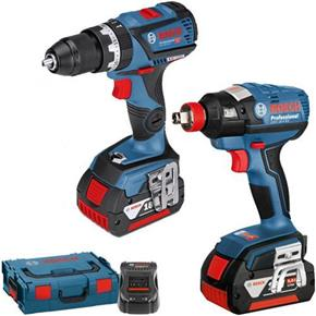 Bosch 18V Dynamic Connected Set: GSB18V-60C + GDX18V-EC (2x 5Ah)