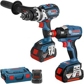 Bosch 18V Robust Connected Set: GSB18V-85C + GDX18V-EC (2x 5Ah)