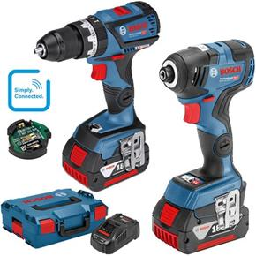 Bosch 18V GSB18V-60C Combi Drill + GDR18V-200C Impact Driver (2x 5Ah)