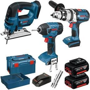 Bosch GSB GDR GST 18V Robust 3 Piece Kit (2x 5Ah)