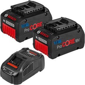 Bosch 18V Battery Kit: 2x 7Ah ProCore + GAL1880CV Quick Charger