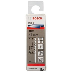 Bosch HSS-G 1mm dia Drill Bits (10 pack)