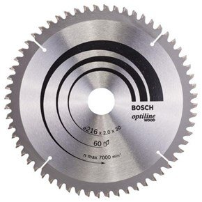 Bosch Optiline Wood TCT Saw Blade 216x60x30mm Bore