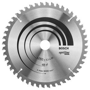Bosch Optiline Wood TCT Saw Blade 260x48x30mm Bore