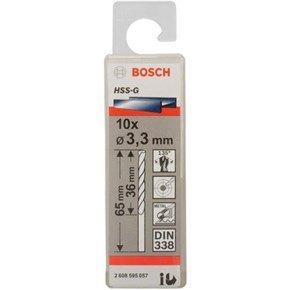 Bosch HSS-G 3.3mm dia Drill Bit (10pk)