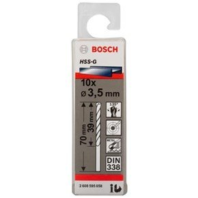 Bosch HSS-G 3.5mm dia Drill Bits (10 pack)