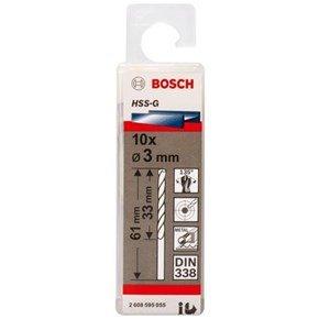 Bosch HSS-G 3mm dia Drill Bits (10 pack)