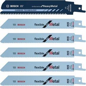 Bosch S922BF Metal Sabre Saw Blades (5pk) & FREE Endurance Blade