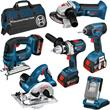 Bosch 6pc Robust Series Kit in Large Kitbag (4.0Ah)