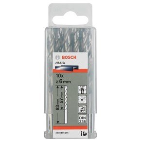 Bosch HSS-G 6mm dia Drill Bits (10 pack)